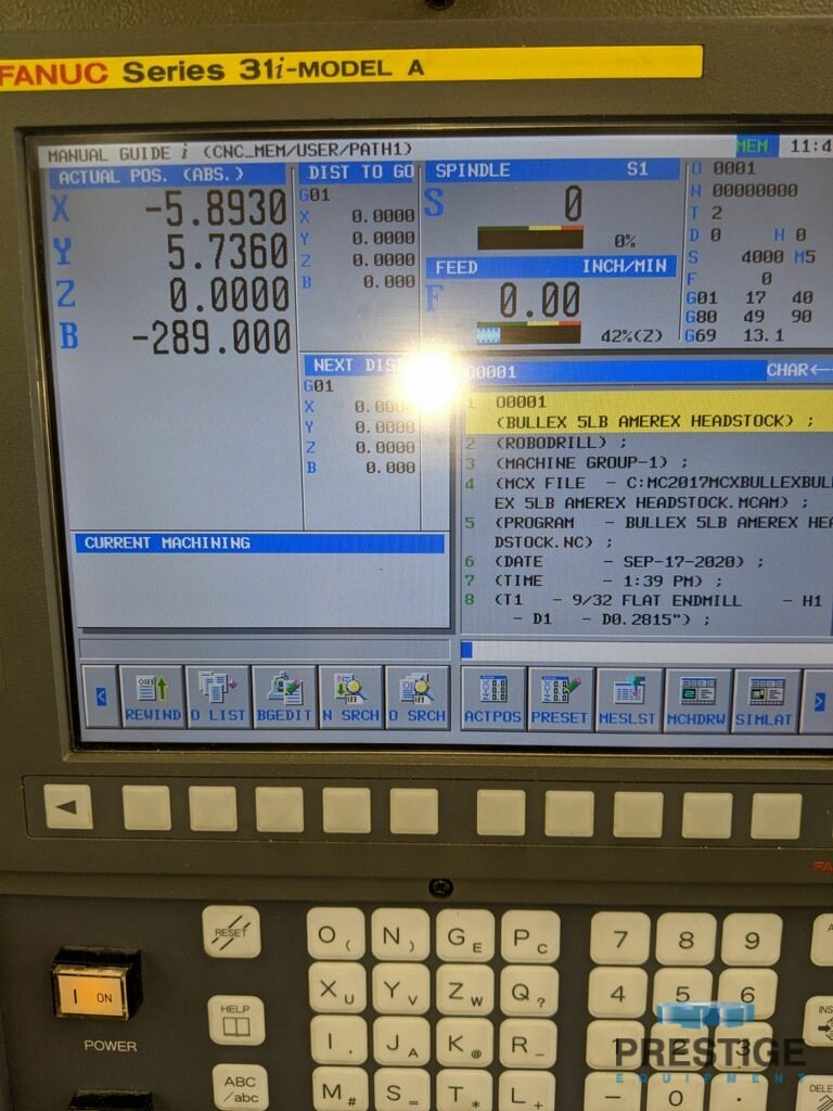 FANUC Robodrill Alpha T14iFe 4-Axis CNC Drilling and Tapping Center-31111h