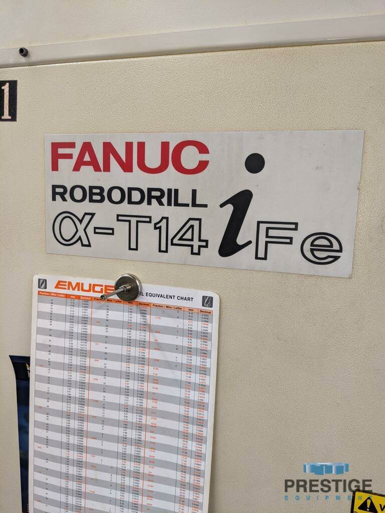 FANUC Robodrill Alpha T14iFe 4-Axis CNC Drilling and Tapping Center-31111l