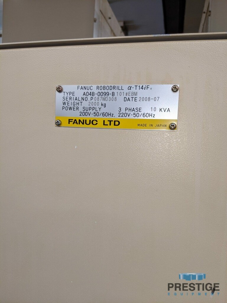 FANUC Robodrill Alpha T14iFe 4-Axis CNC Drilling and Tapping Center-31111n