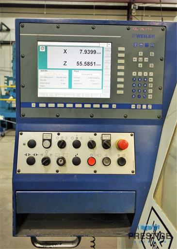 Weiler E70x3000 CNC Hollow Spindle Flat Bed Lathe-31262a